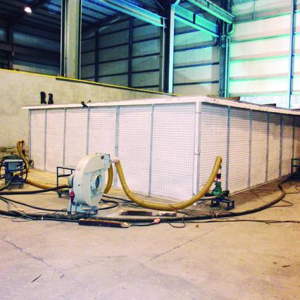 Cooper Hornos fijos y modulares. Tratamientos térmicos con hornos fijos o modulares portátiles. Forjas Iraeta obra.