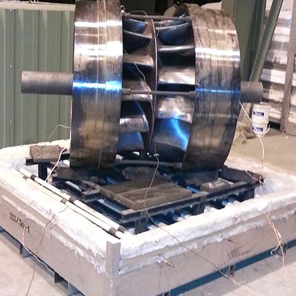 Tratamientos térmicos con hornos fijos o modulares portátiles. Pieza modular.