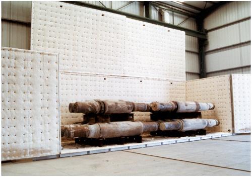 Tratamientos térmicos con hornos fijos o modulares portátiles en taller.